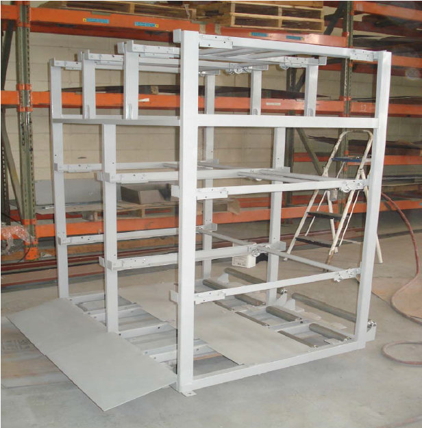 Rack for electric wire rolls