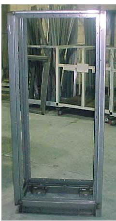Welded frame for power source